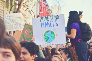 image of a poster written there is no planet B