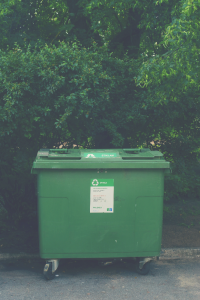image of a green box used for recycling purposes