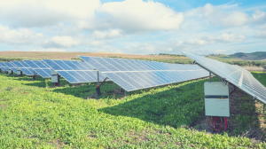 image of solar panel in a field