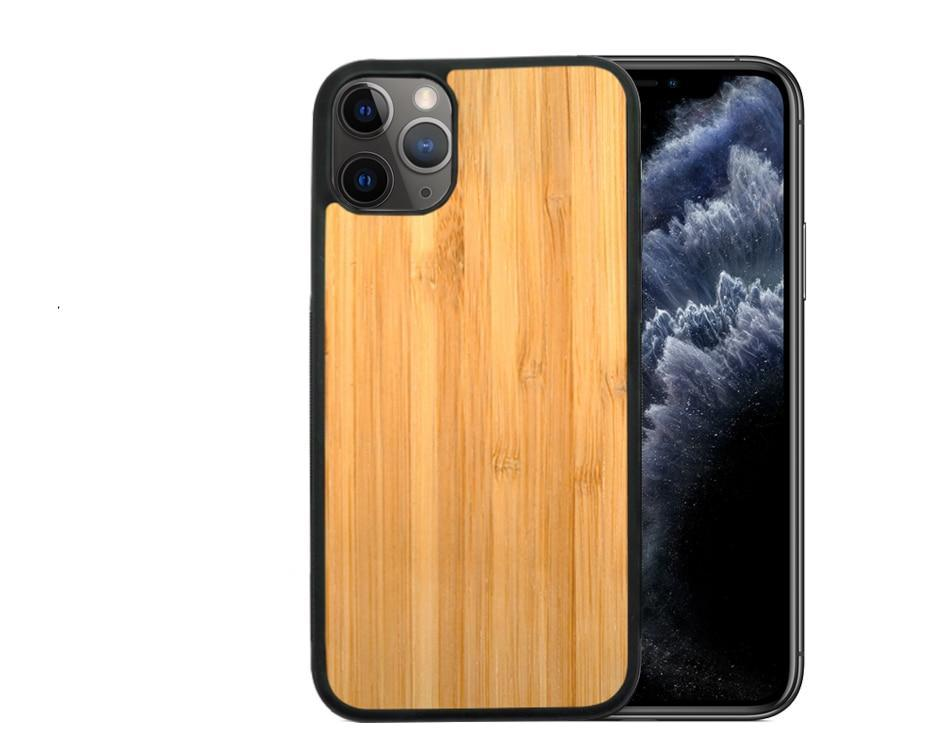 Real Wood Case For iPhone 11Pro MAX X XR 8 7 6 Plus Cover Natural Bamboo Wooden Hard Phone Cases for Phone Protection Ultra Slim