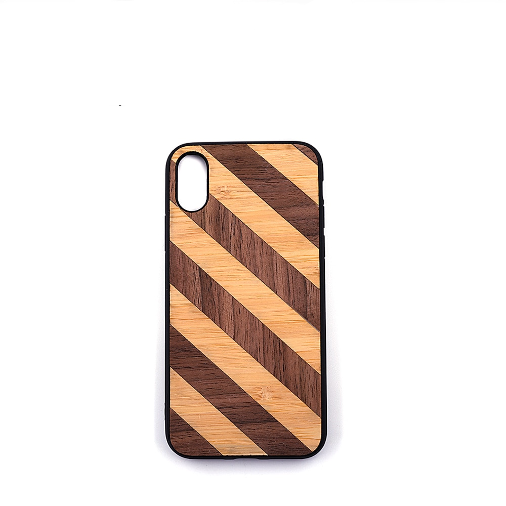 Handmade Wood Striped Phone Case